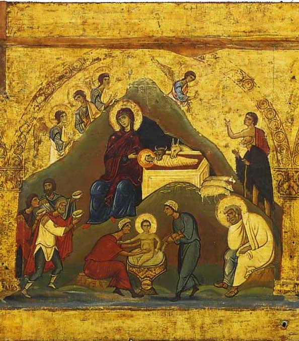 Икона Рождества из монастыря св. Екатерины на Синае