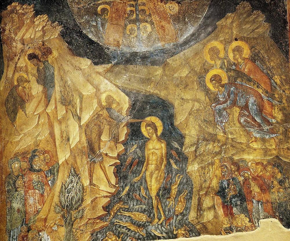 Крещение, Мистра, Греция, 15 в.