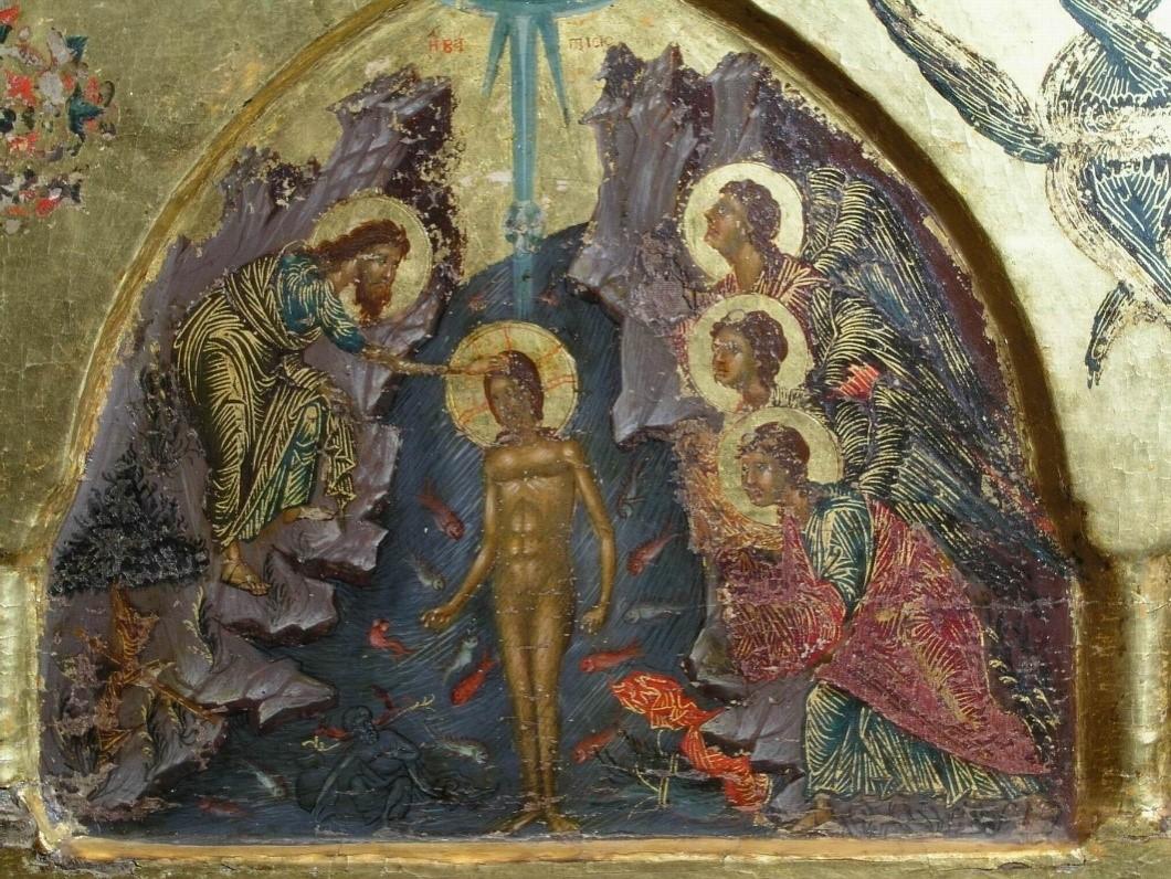 Крещение, икона, Византия.
