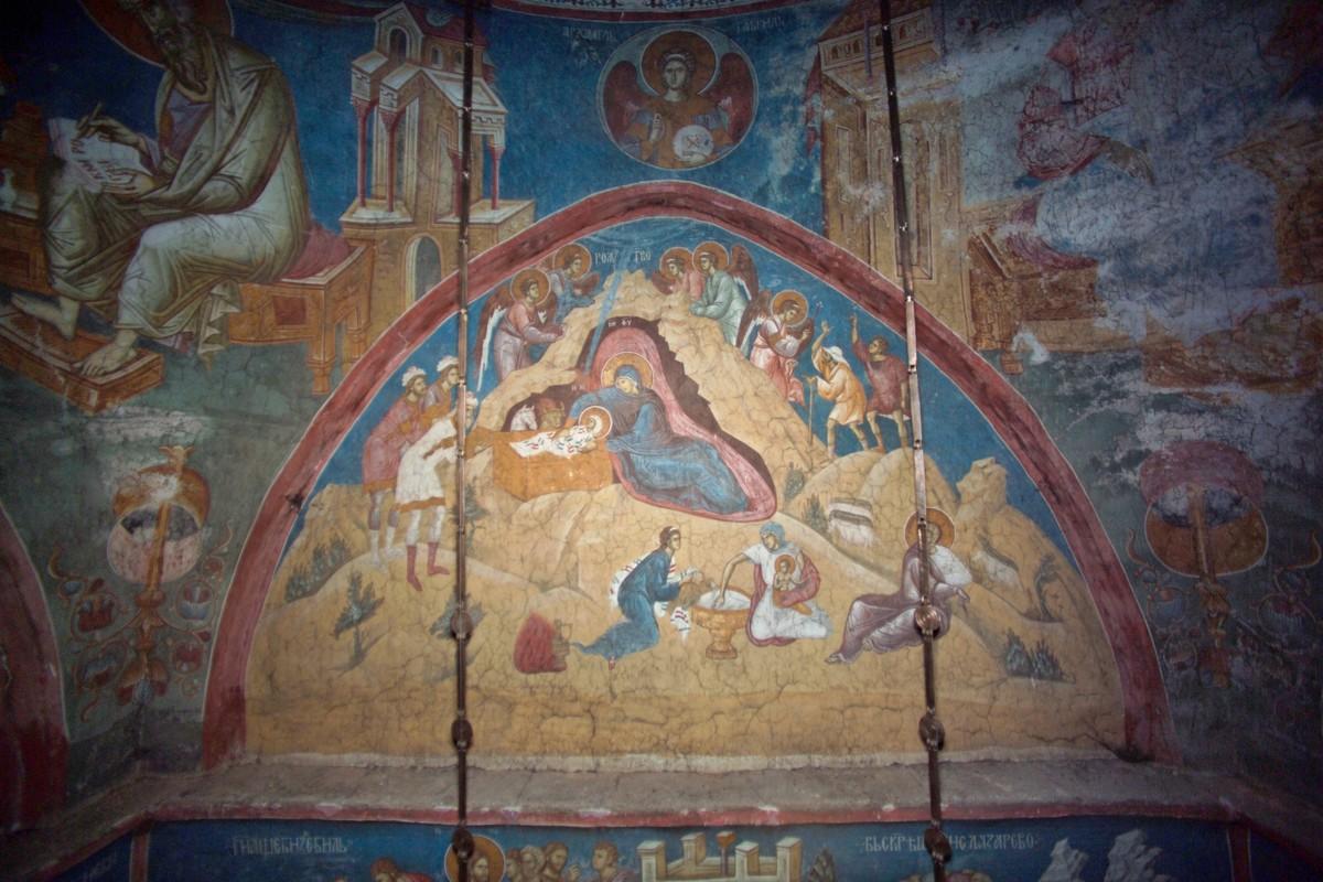 Фреска, монастырь Дечаны, Сербия, 14 в.