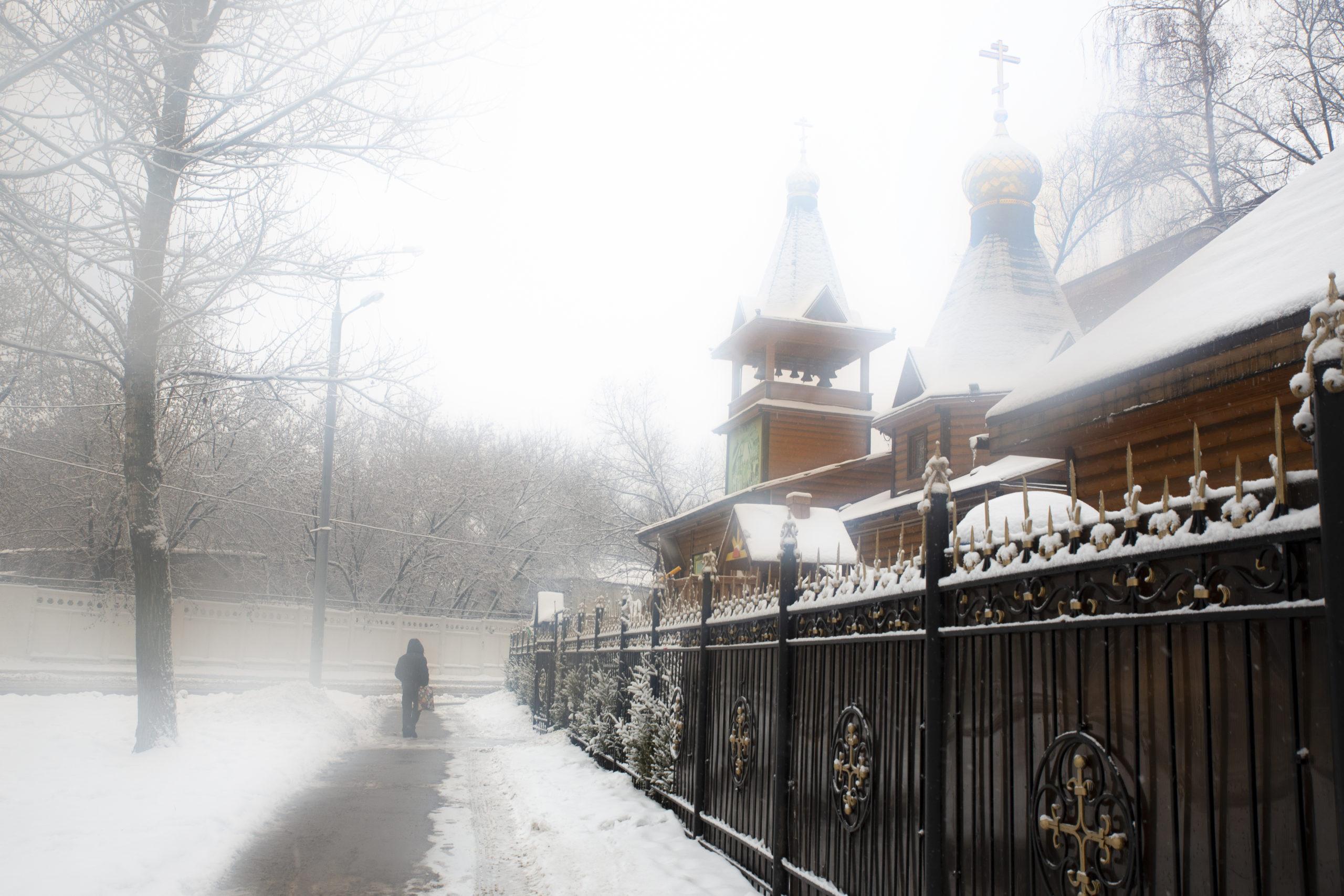 Храм зима