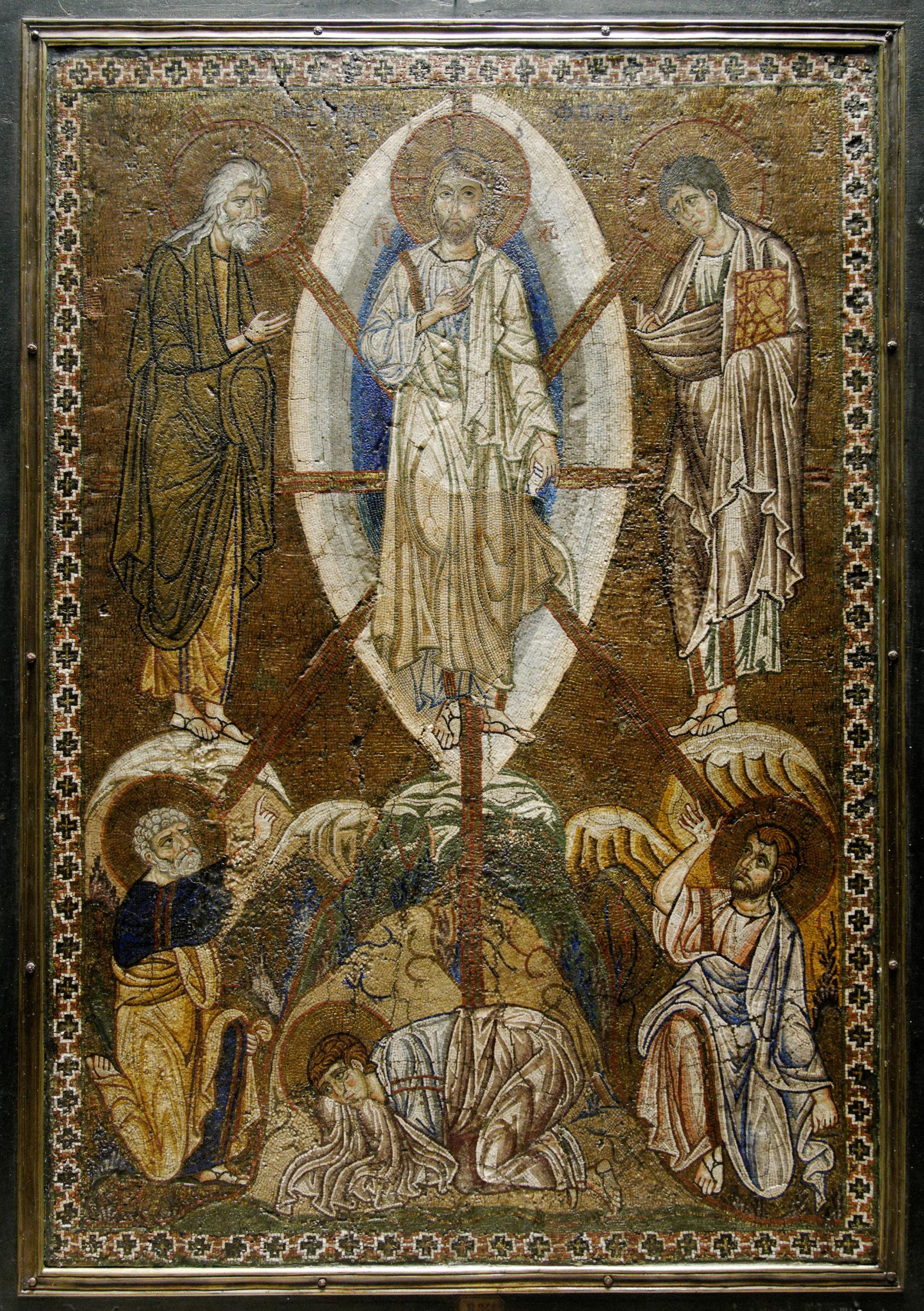 Преображение, мозаичная икона, ок.1200 года, Лувр.